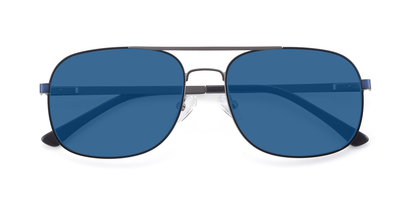 9487 - Blue / Silver Tinted Sunglasses
