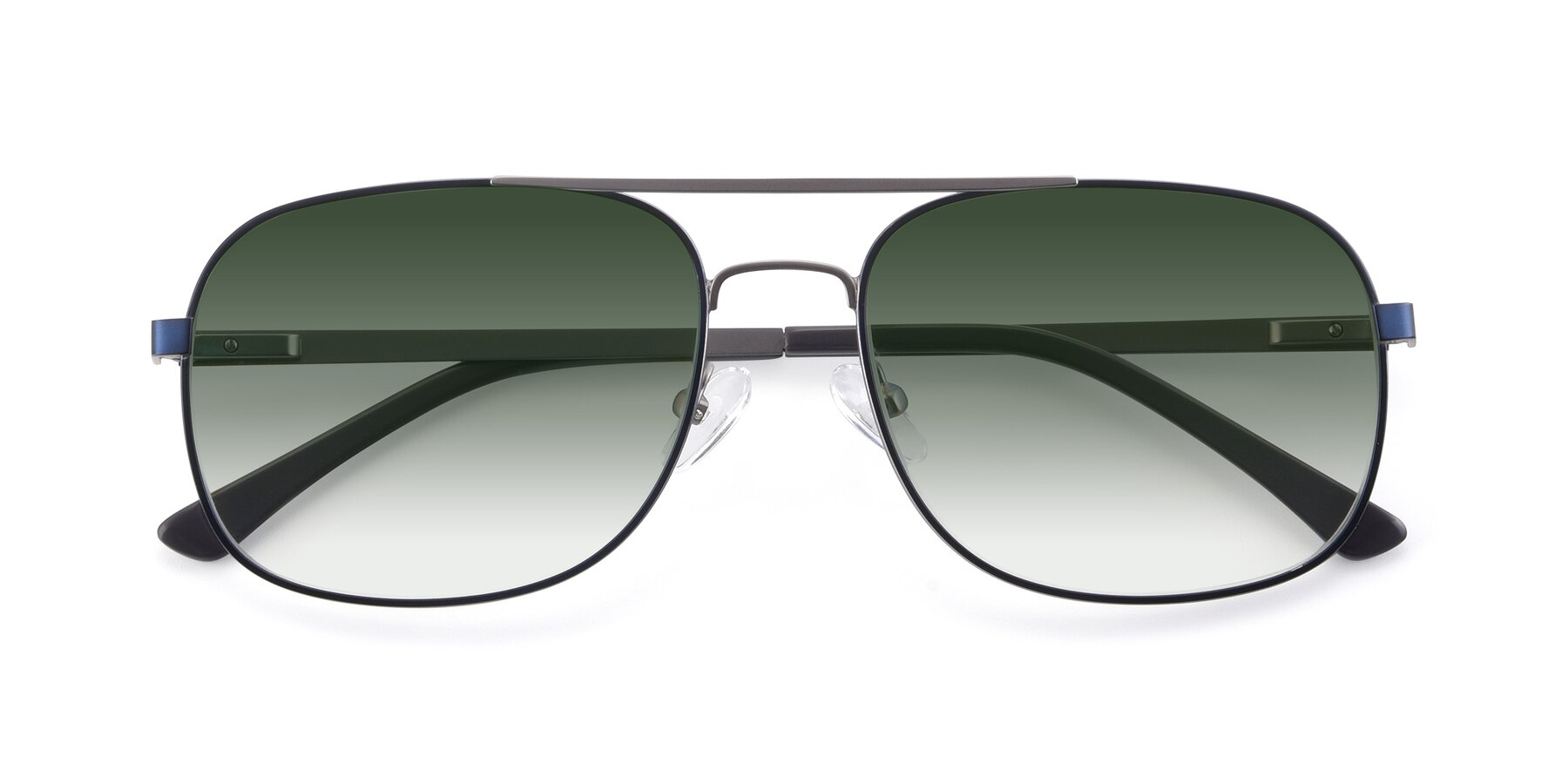 Folded Front of 9487 in Blue-Silver with Green Gradient Lenses