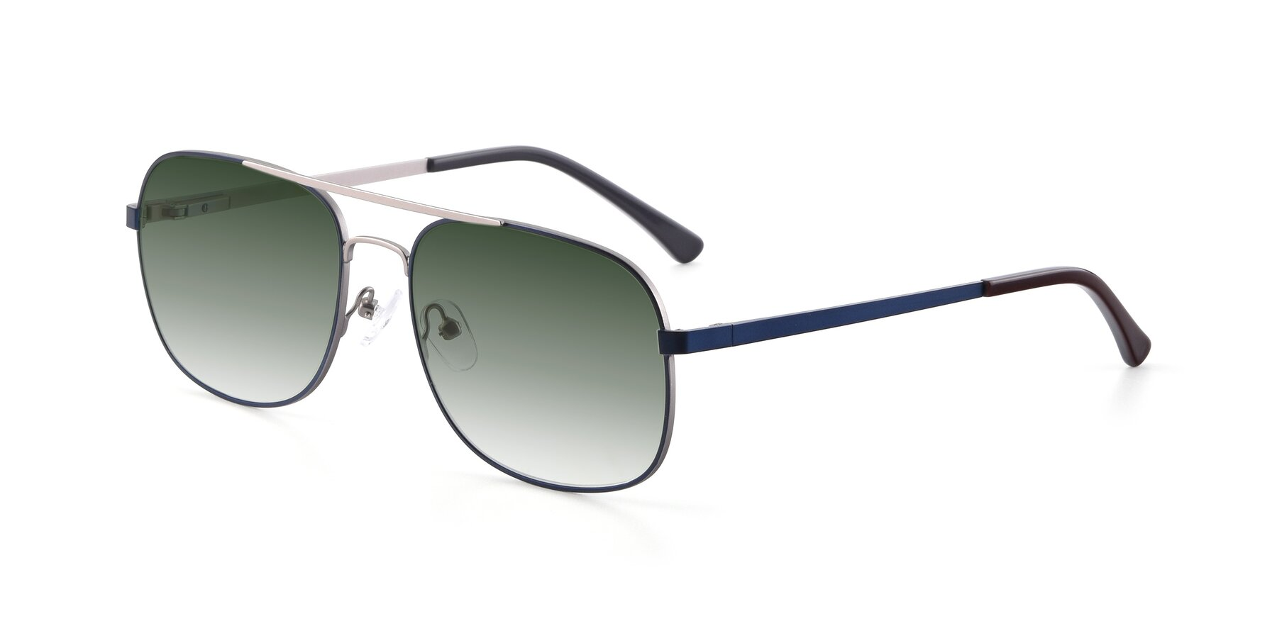 Angle of 9487 in Blue-Silver with Green Gradient Lenses