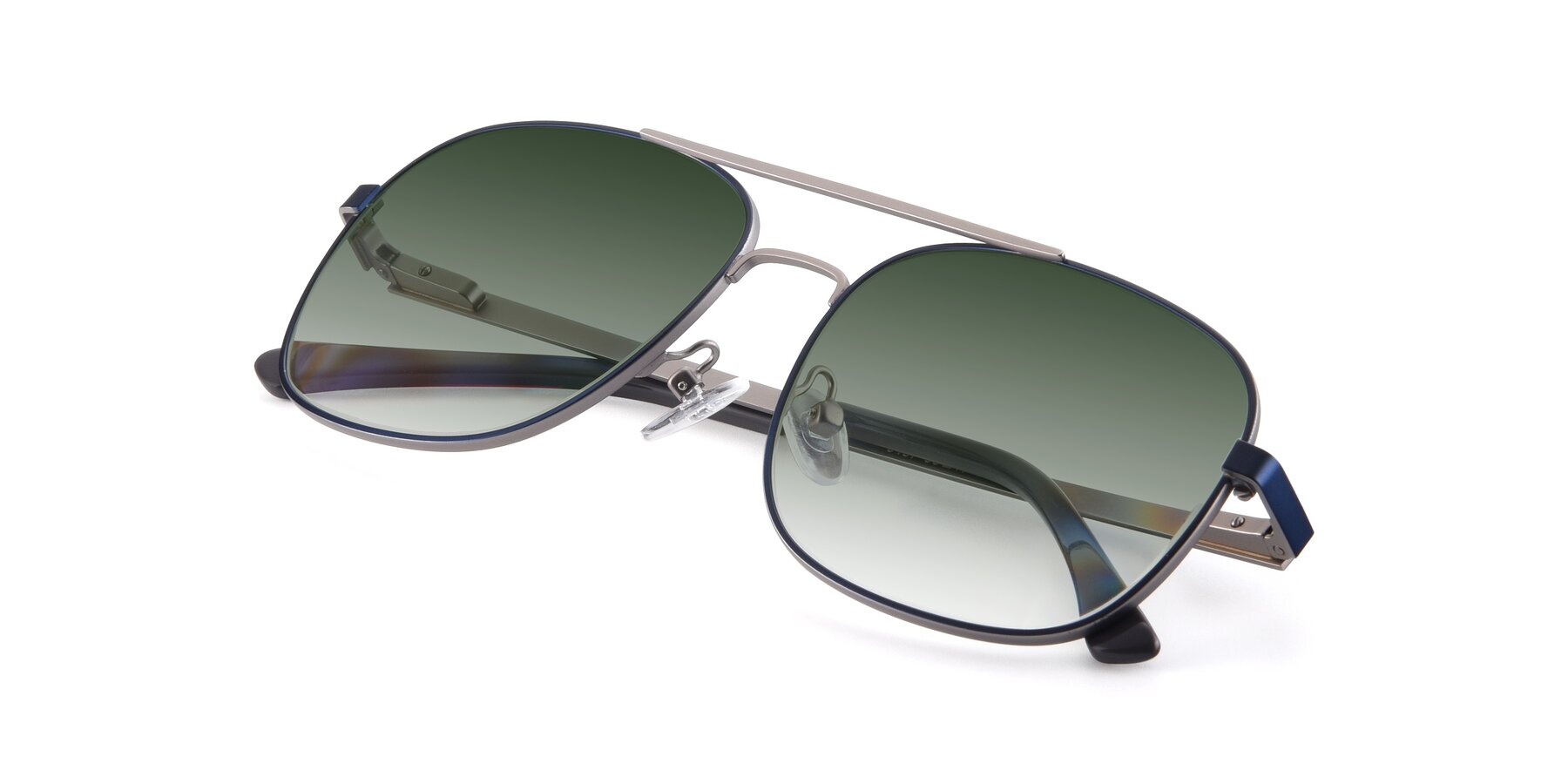 View of 9487 in Blue-Silver with Green Gradient Lenses