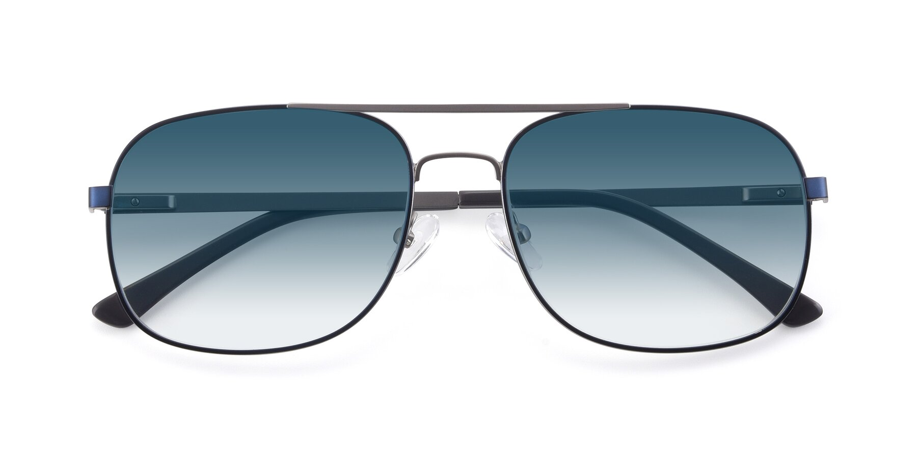 Folded Front of 9487 in Blue-Silver with Blue Gradient Lenses
