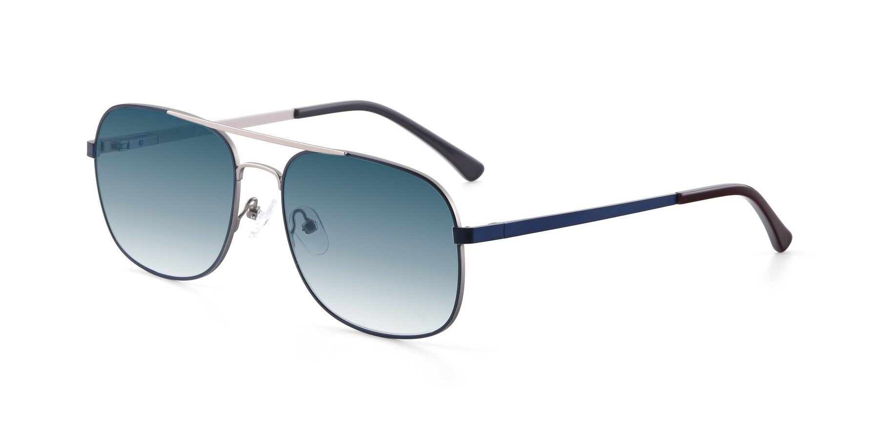 Angle of 9487 in Blue-Silver with Blue Gradient Lenses
