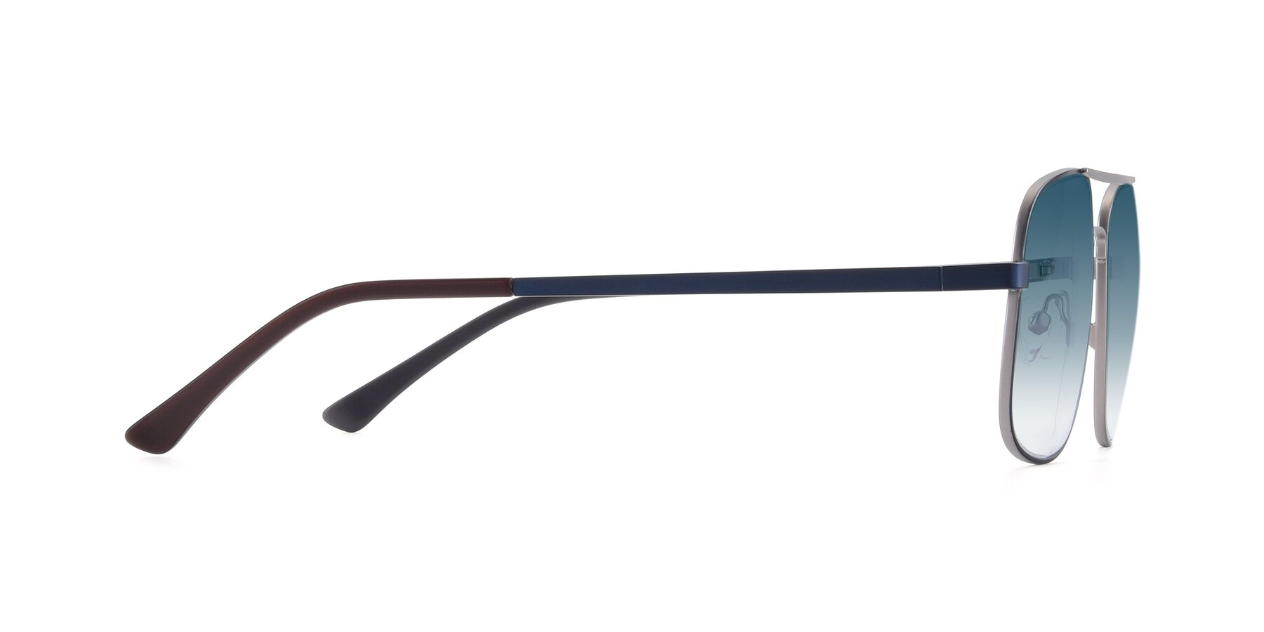 Side of 9487 in Blue-Silver with Blue Gradient Lenses
