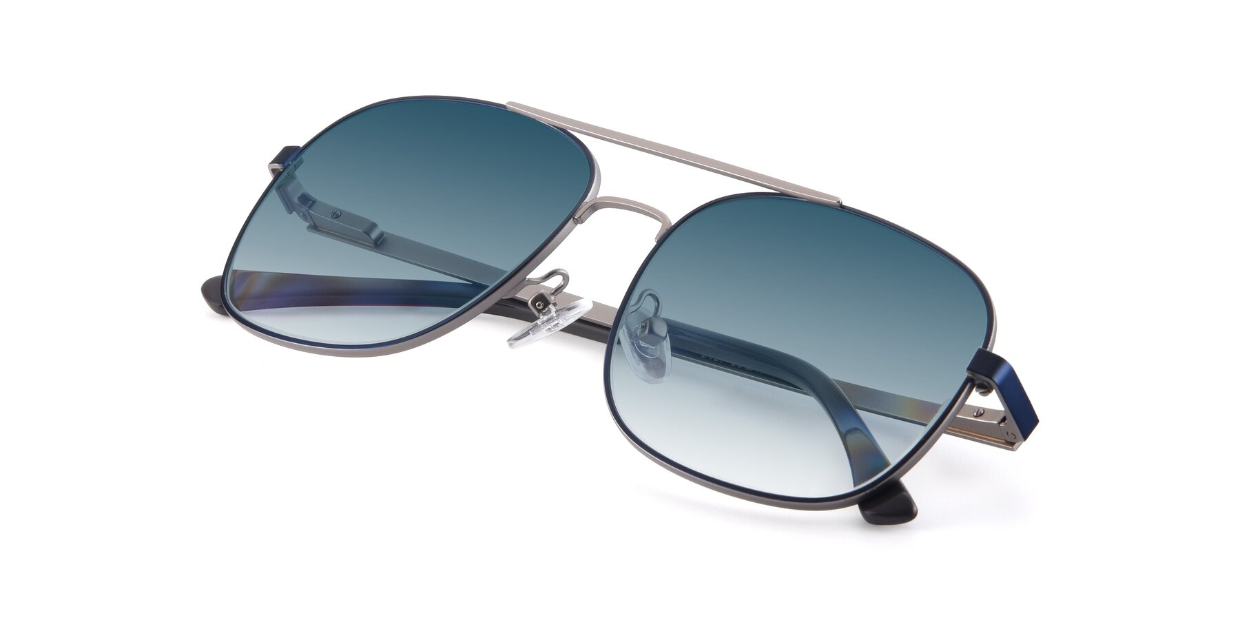 View of 9487 in Blue-Silver with Blue Gradient Lenses