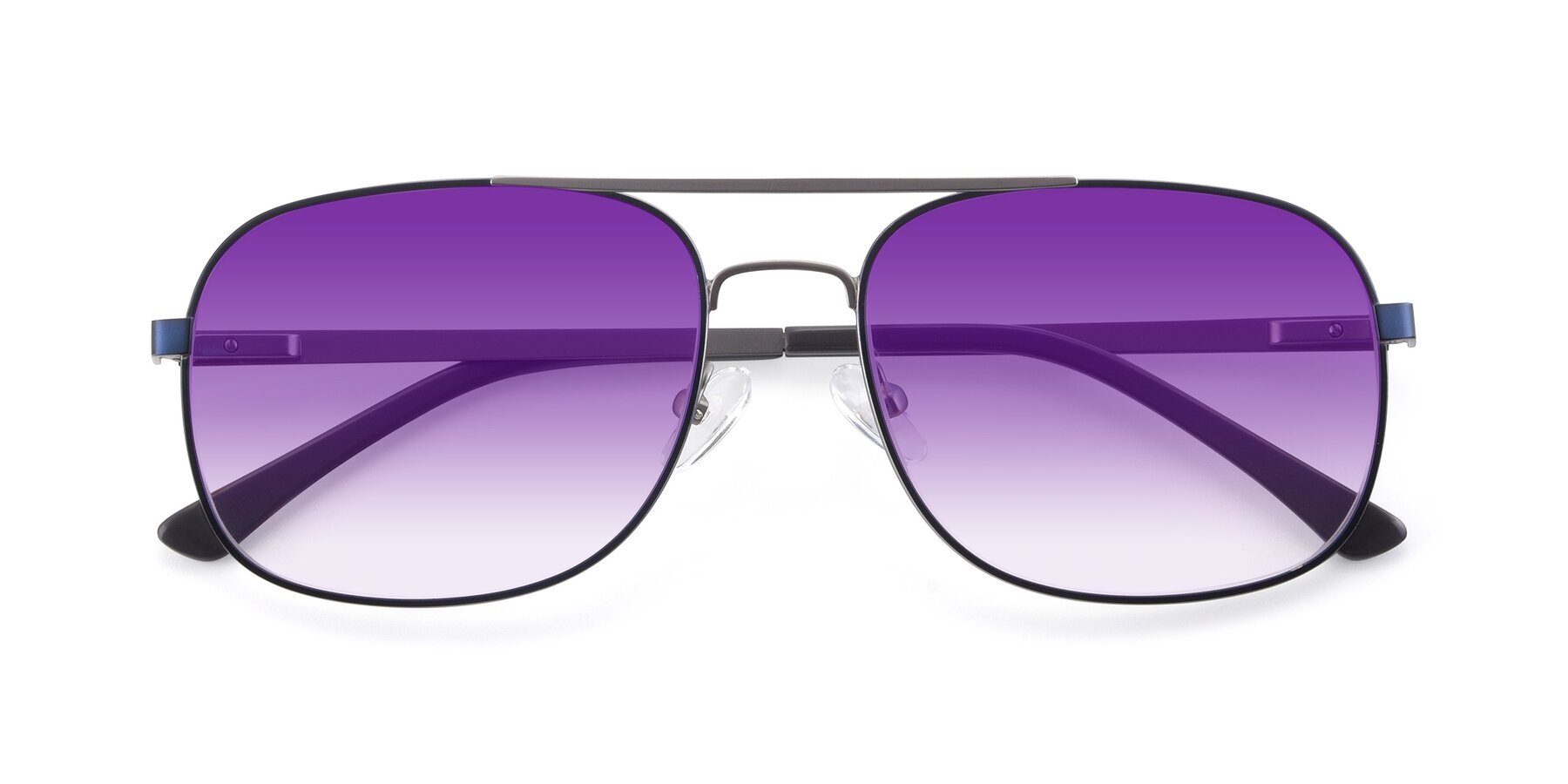 Folded Front of 9487 in Blue-Silver with Purple Gradient Lenses