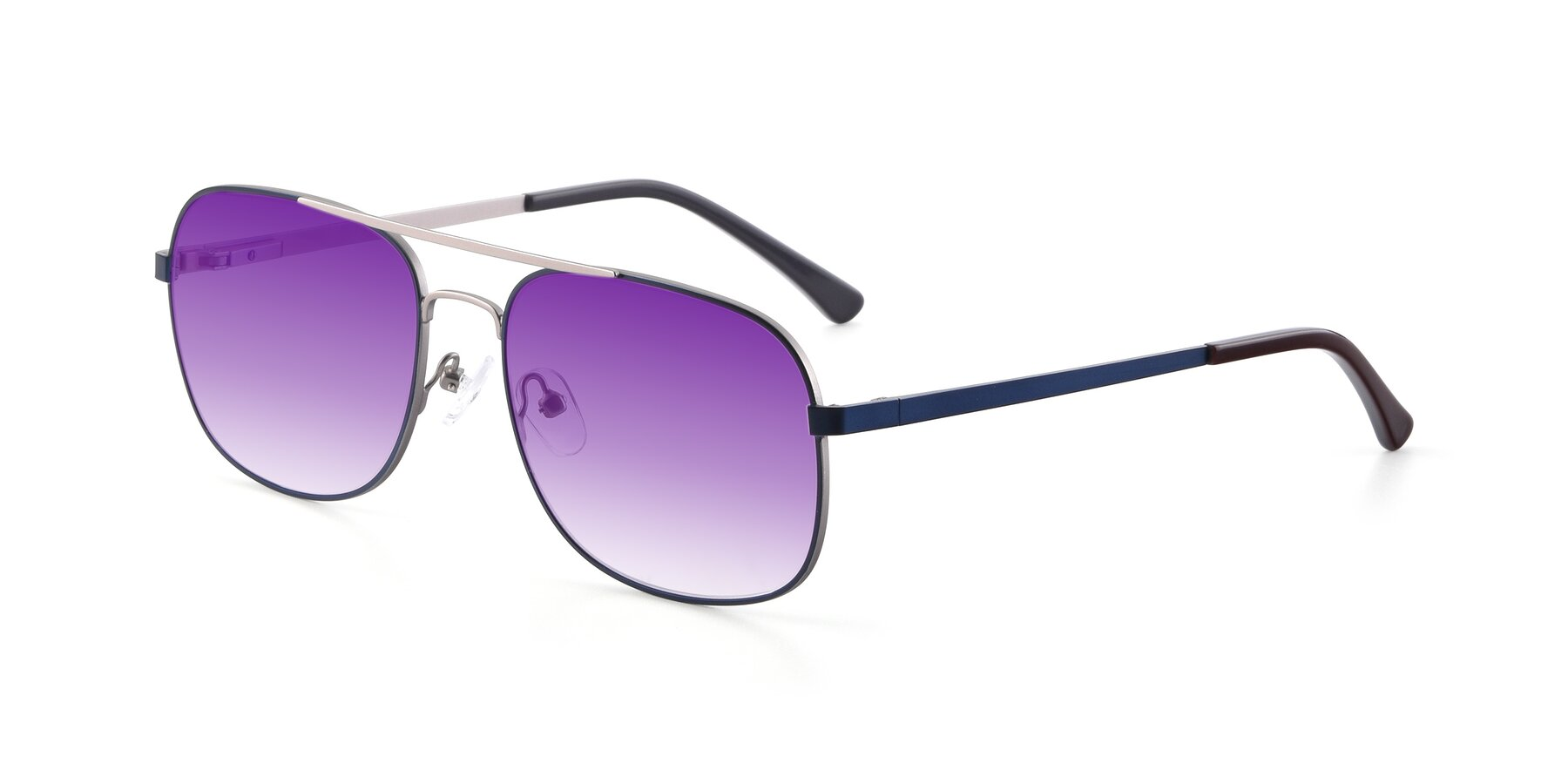 Angle of 9487 in Blue-Silver with Purple Gradient Lenses
