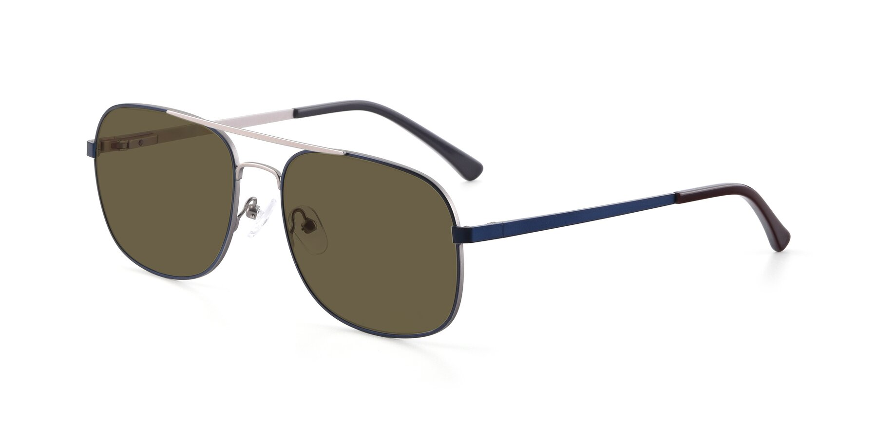 Angle of 9487 in Blue-Silver with Brown Polarized Lenses