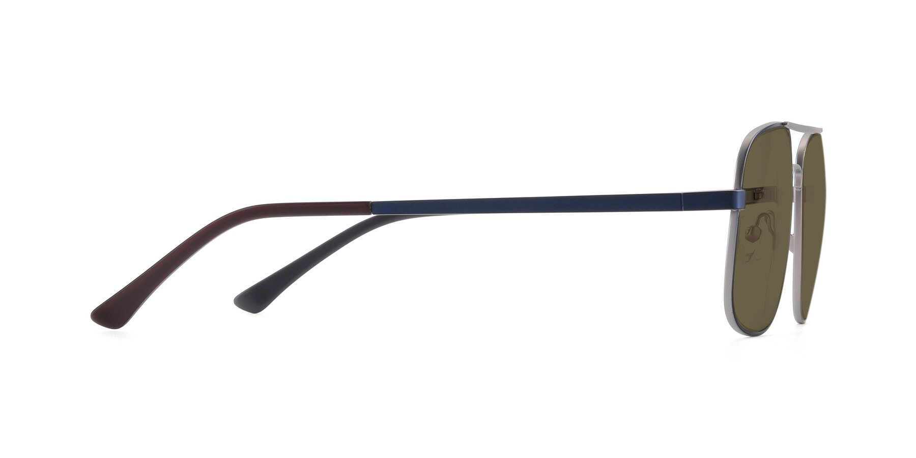 Side of 9487 in Blue-Silver with Brown Polarized Lenses