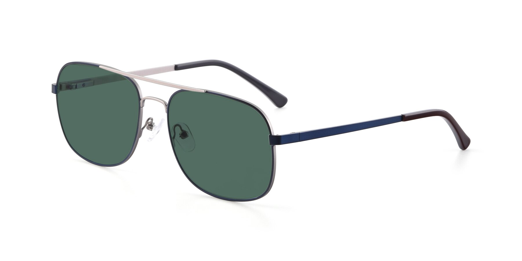 Angle of 9487 in Blue-Silver with Green Polarized Lenses