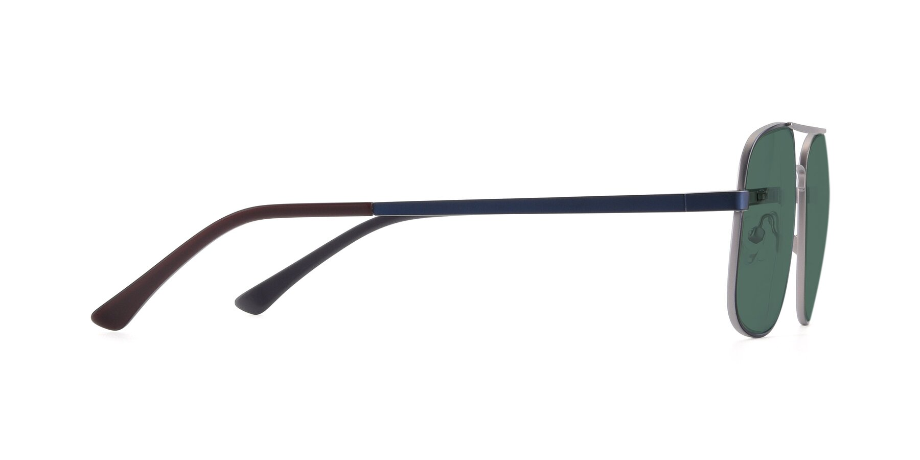 Side of 9487 in Blue-Silver with Green Polarized Lenses