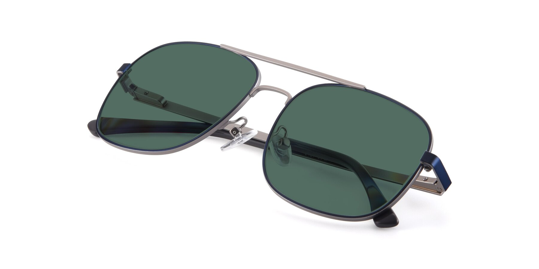 View of 9487 in Blue-Silver with Green Polarized Lenses