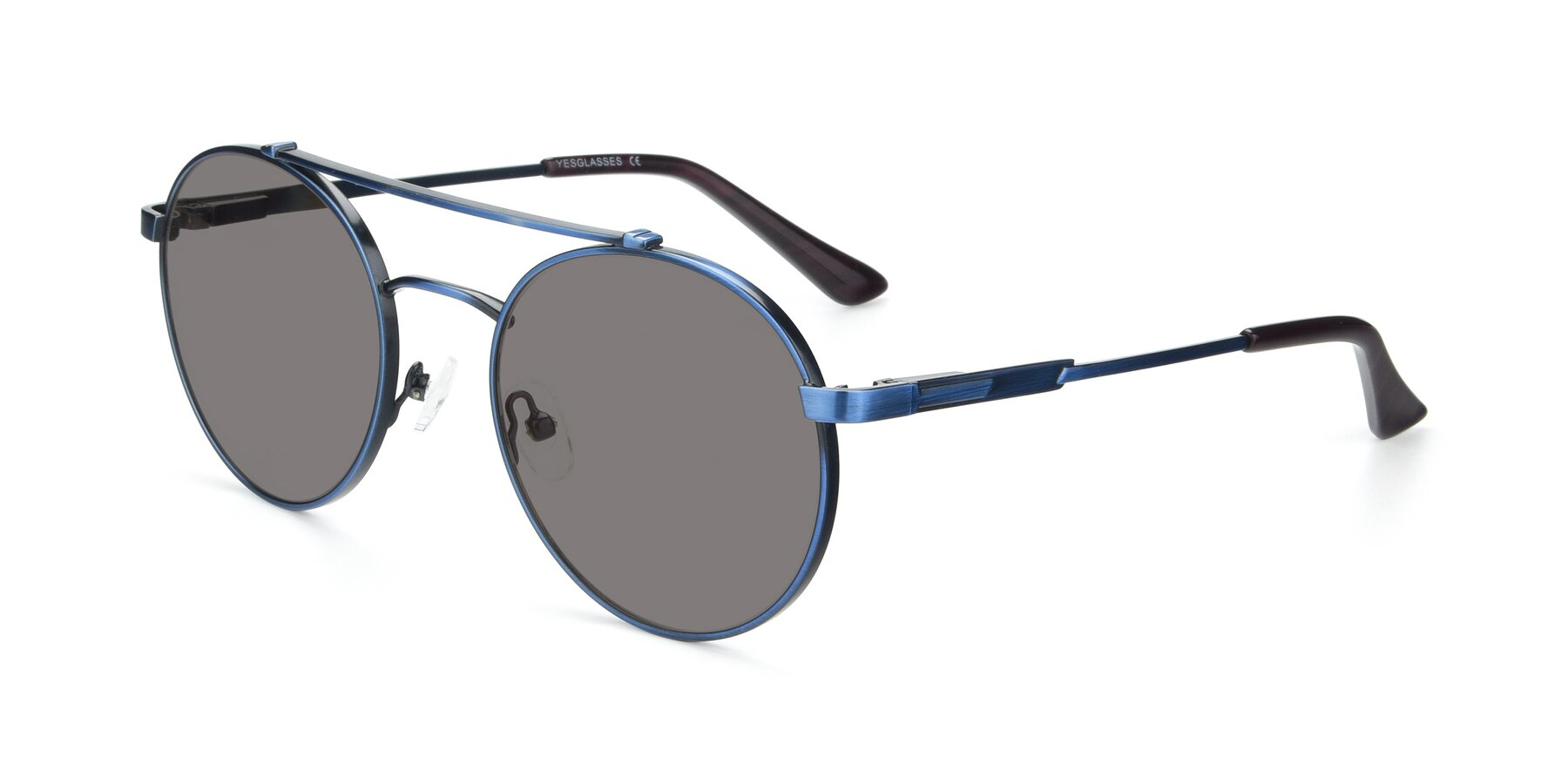 Angle of 9490 in Antique Blue with Medium Gray Tinted Lenses