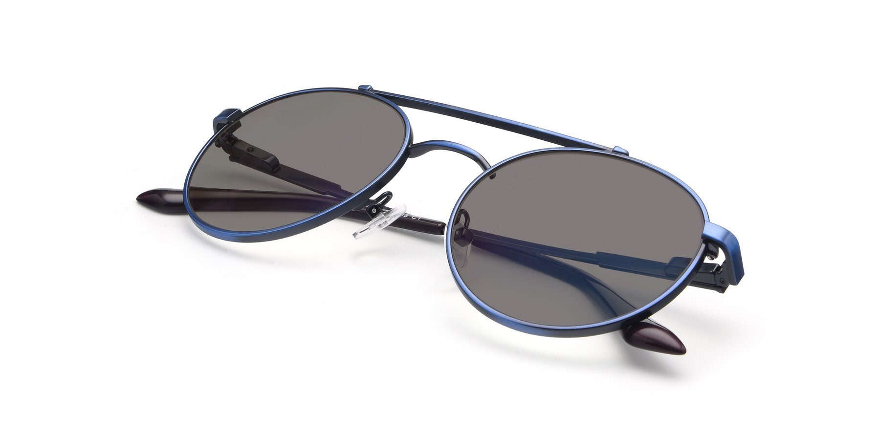View of 9490 in Antique Blue with Medium Gray Tinted Lenses