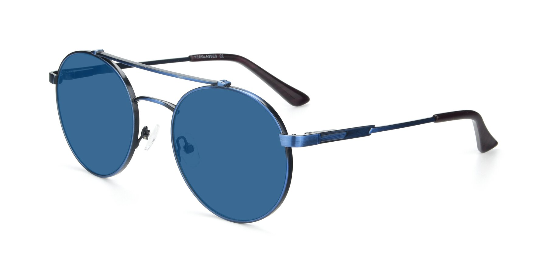 Angle of 9490 in Antique Blue with Blue Tinted Lenses