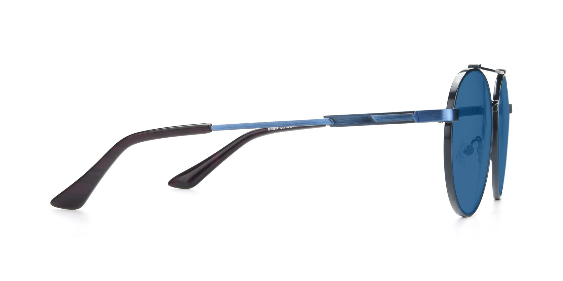 Side of 9490 in Antique Blue with Blue Tinted Lenses