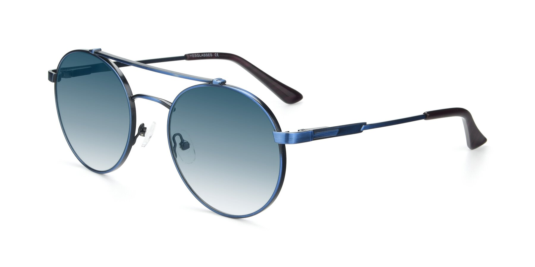 Angle of 9490 in Antique Blue with Blue Gradient Lenses