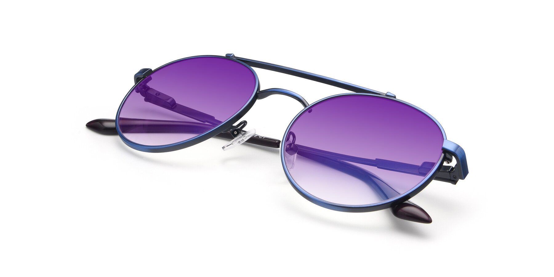 View of 9490 in Antique Blue with Purple Gradient Lenses