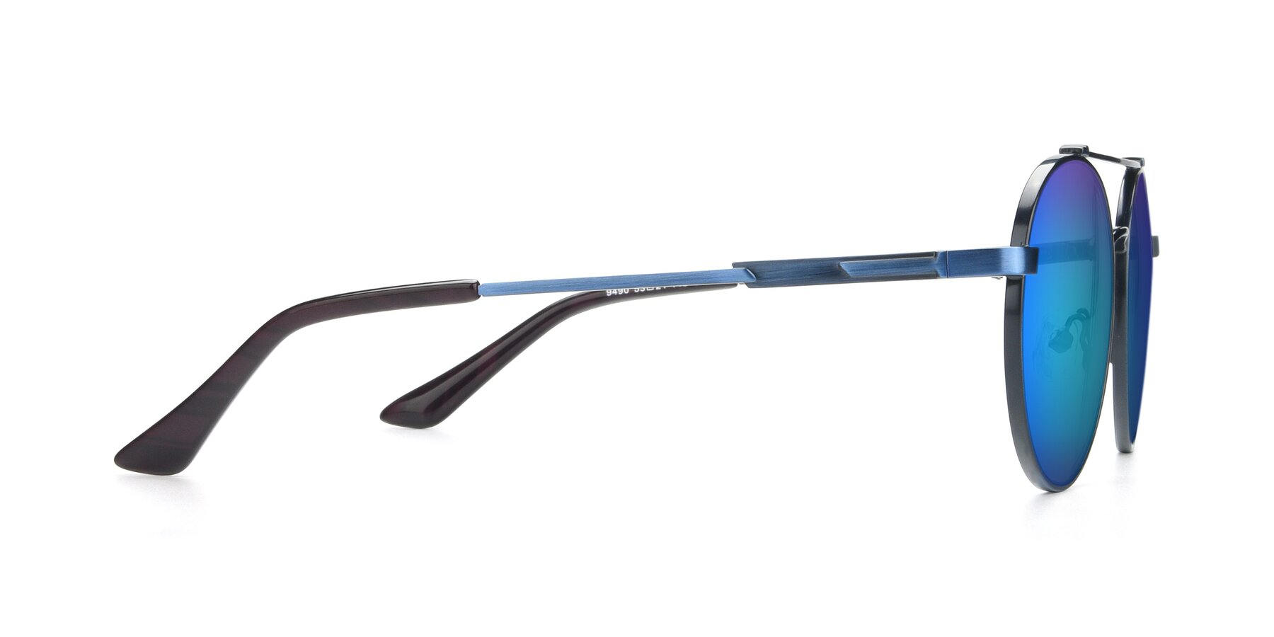 Side of 9490 in Antique Blue with Blue Mirrored Lenses