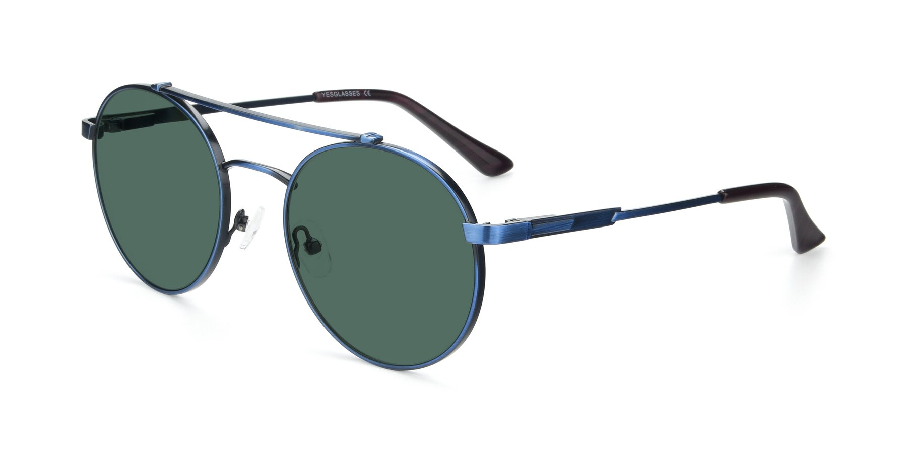 Angle of 9490 in Antique Blue with Green Polarized Lenses