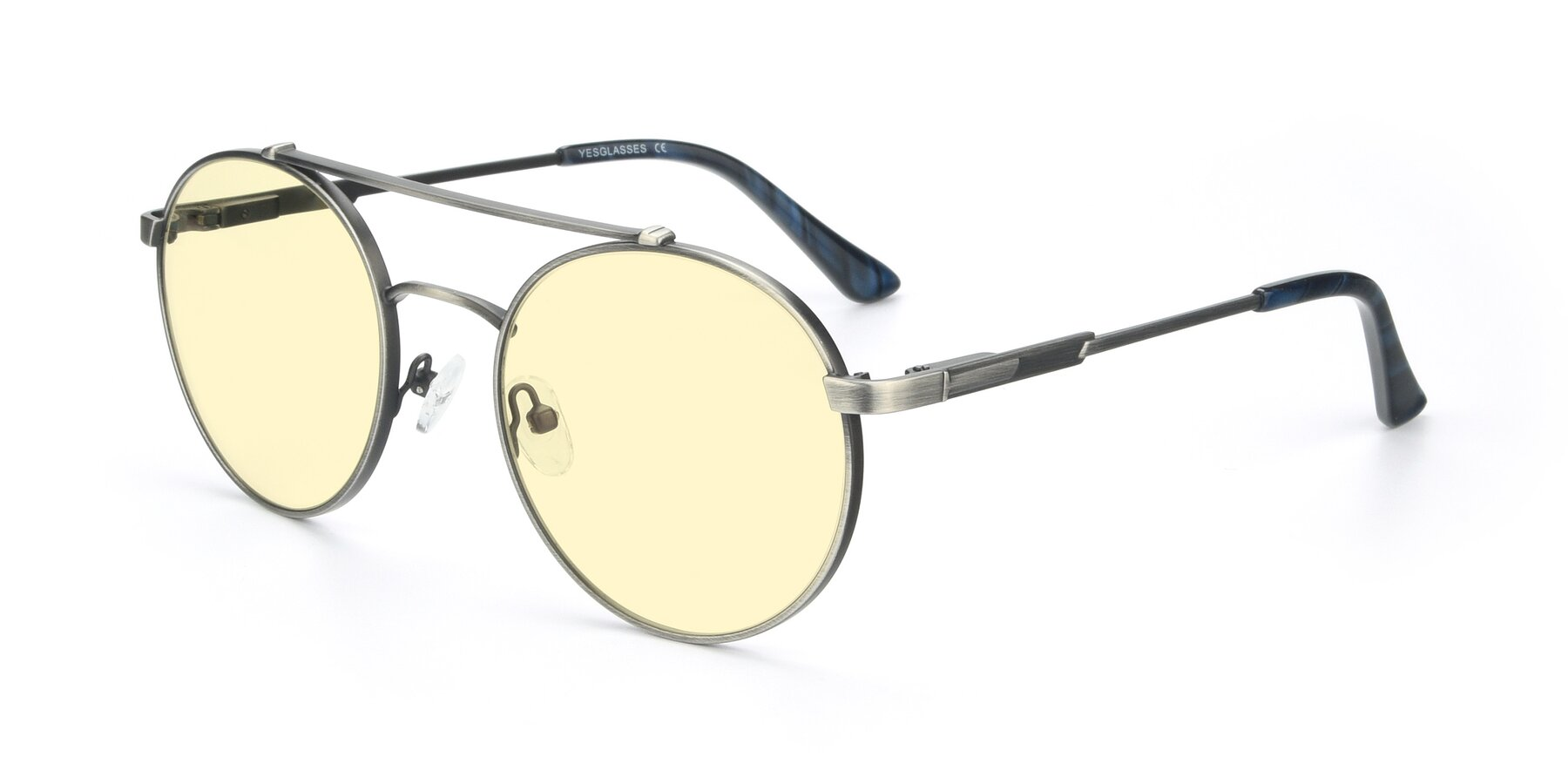 Angle of 9490 in Antique Gunmetal with Light Yellow Tinted Lenses