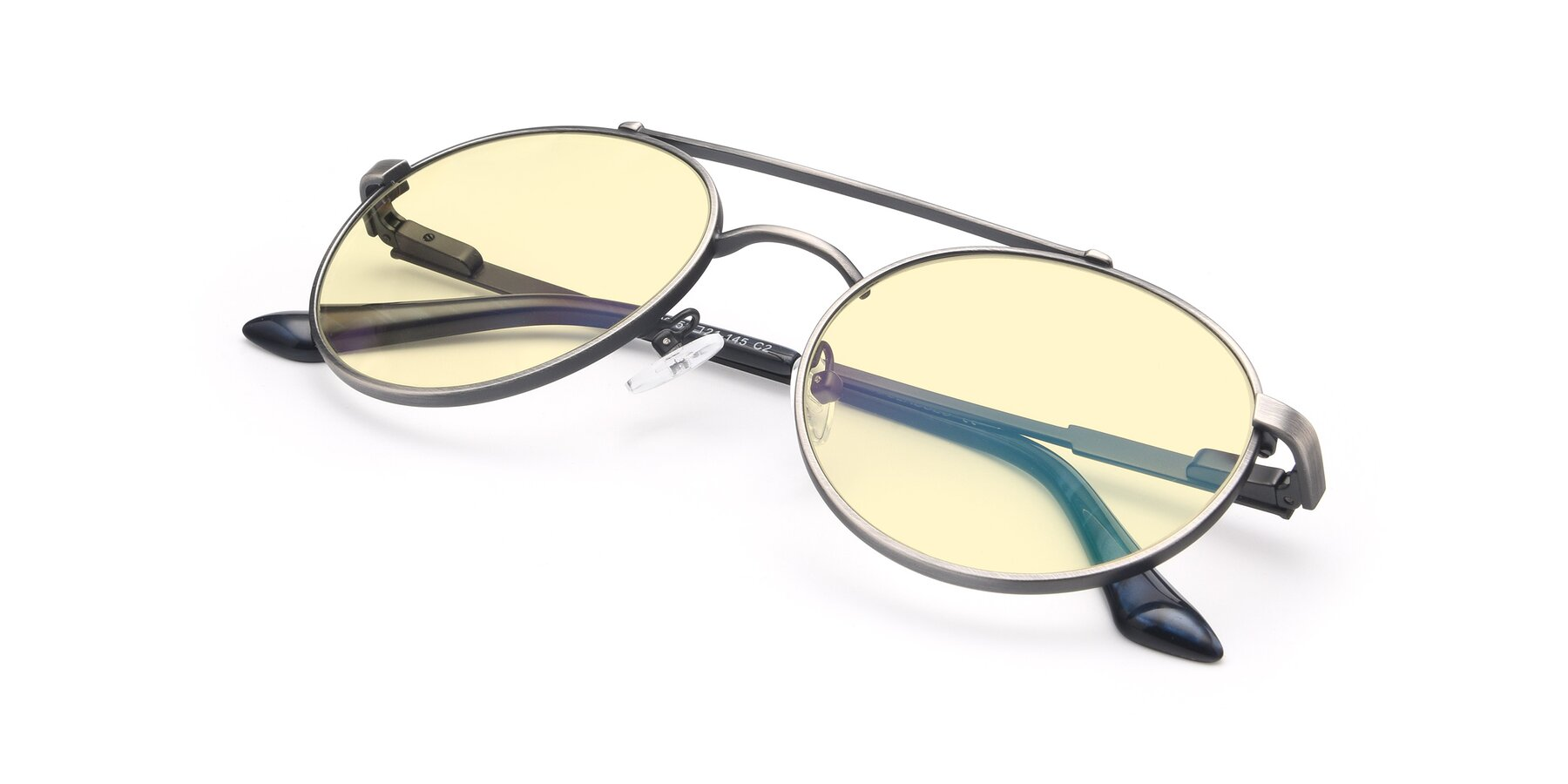 View of 9490 in Antique Gunmetal with Light Yellow Tinted Lenses