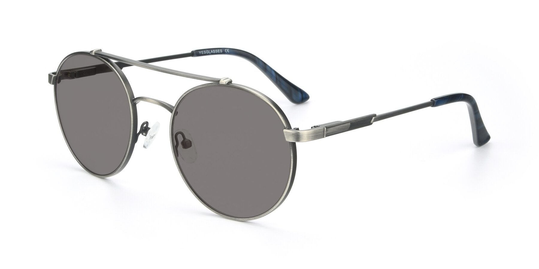 Angle of 9490 in Antique Gunmetal with Medium Gray Tinted Lenses