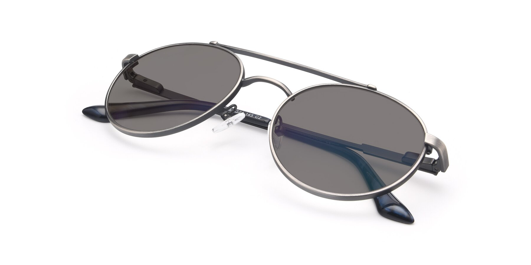 View of 9490 in Antique Gunmetal with Medium Gray Tinted Lenses