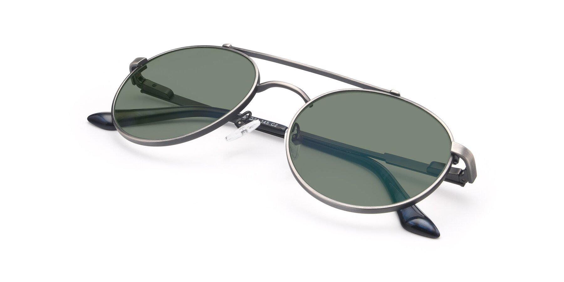 View of 9490 in Antique Gunmetal with Medium Green Tinted Lenses