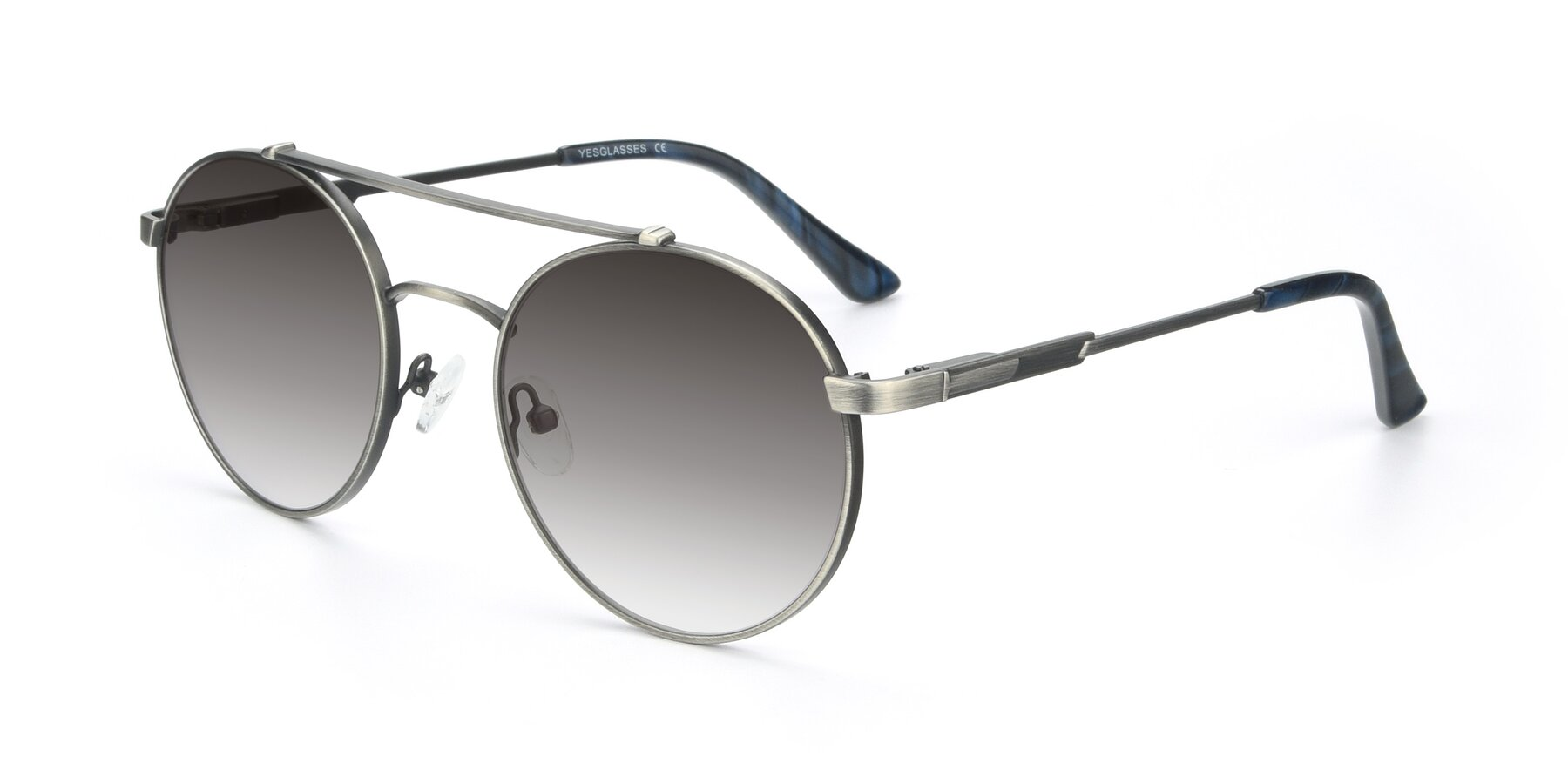 Angle of 9490 in Antique Gunmetal with Gray Gradient Lenses