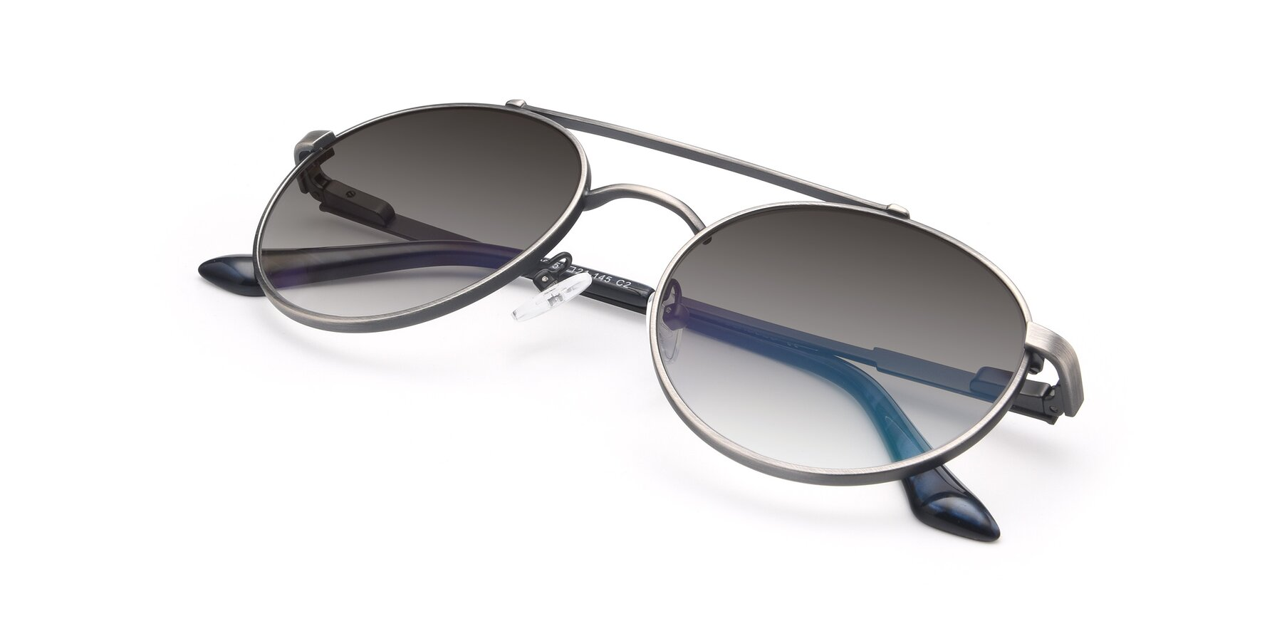 View of 9490 in Antique Gunmetal with Gray Gradient Lenses