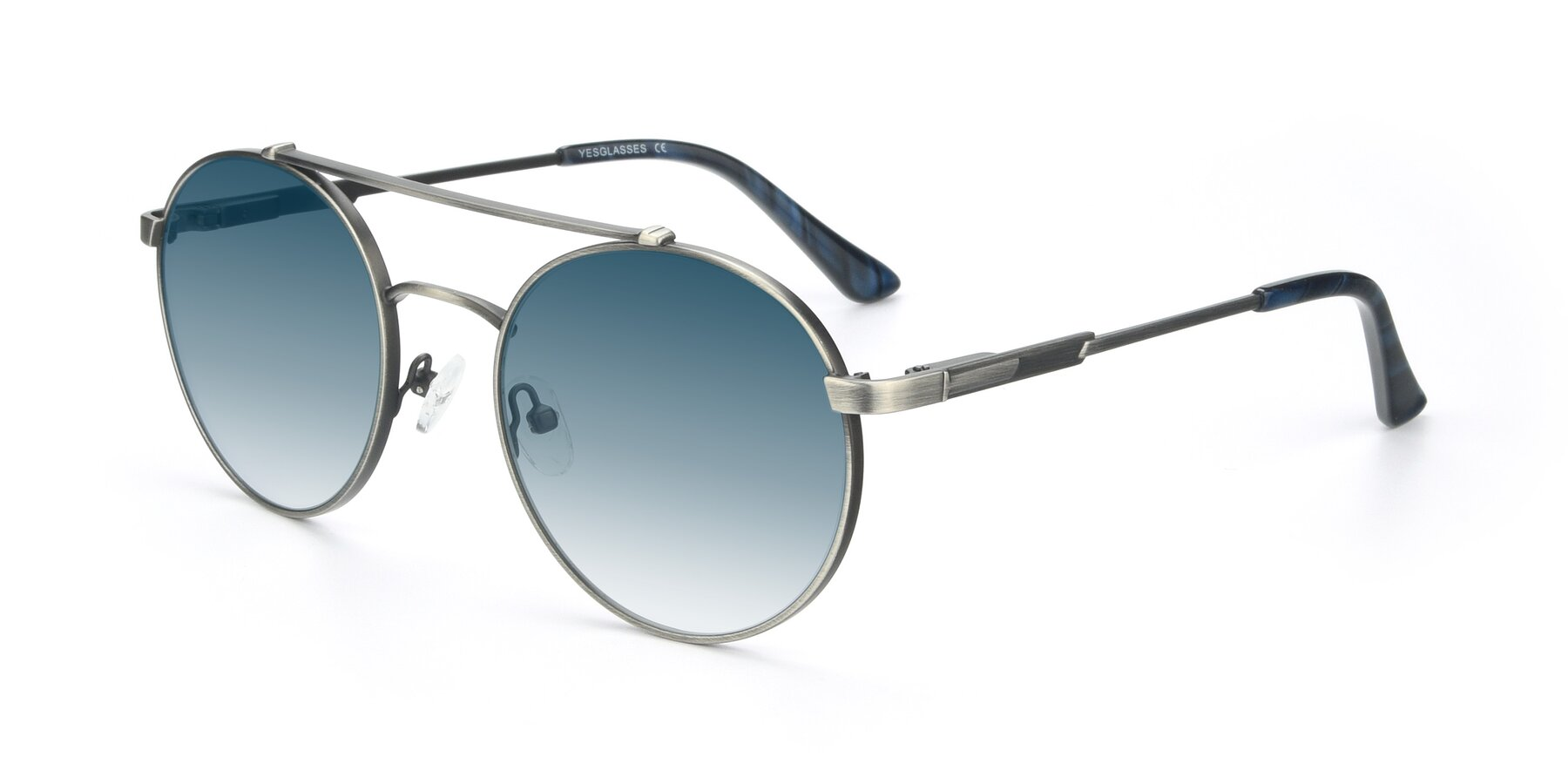 Angle of 9490 in Antique Gunmetal with Blue Gradient Lenses