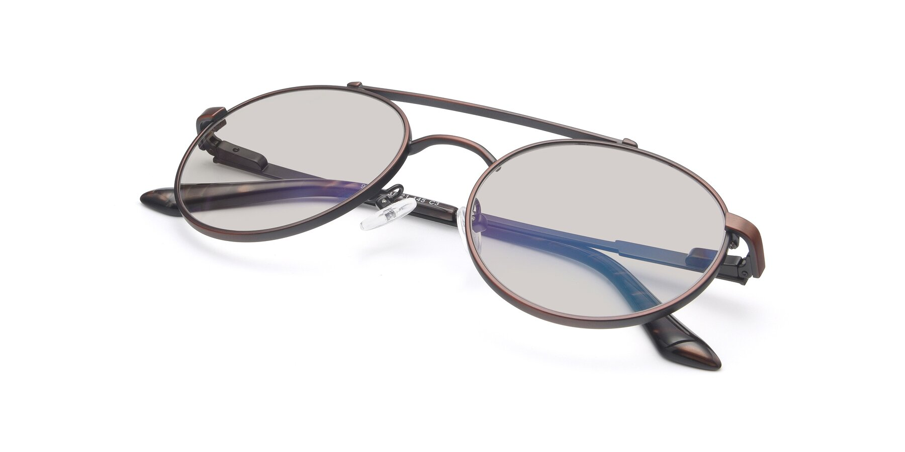 View of 9490 in Antique Brown with Light Brown Tinted Lenses