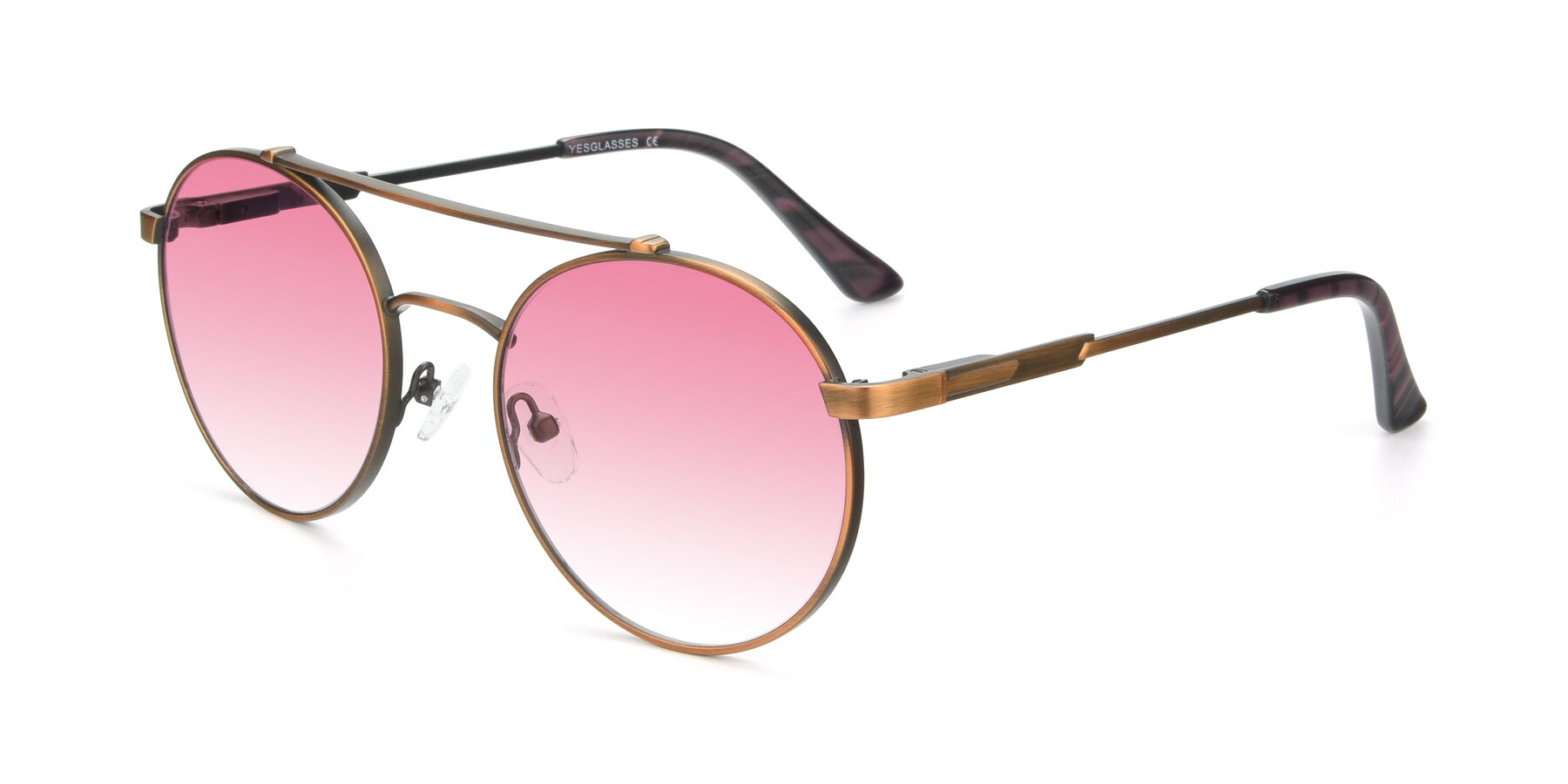 Angle of 9490 in Antique Bronze with Pink Gradient Lenses
