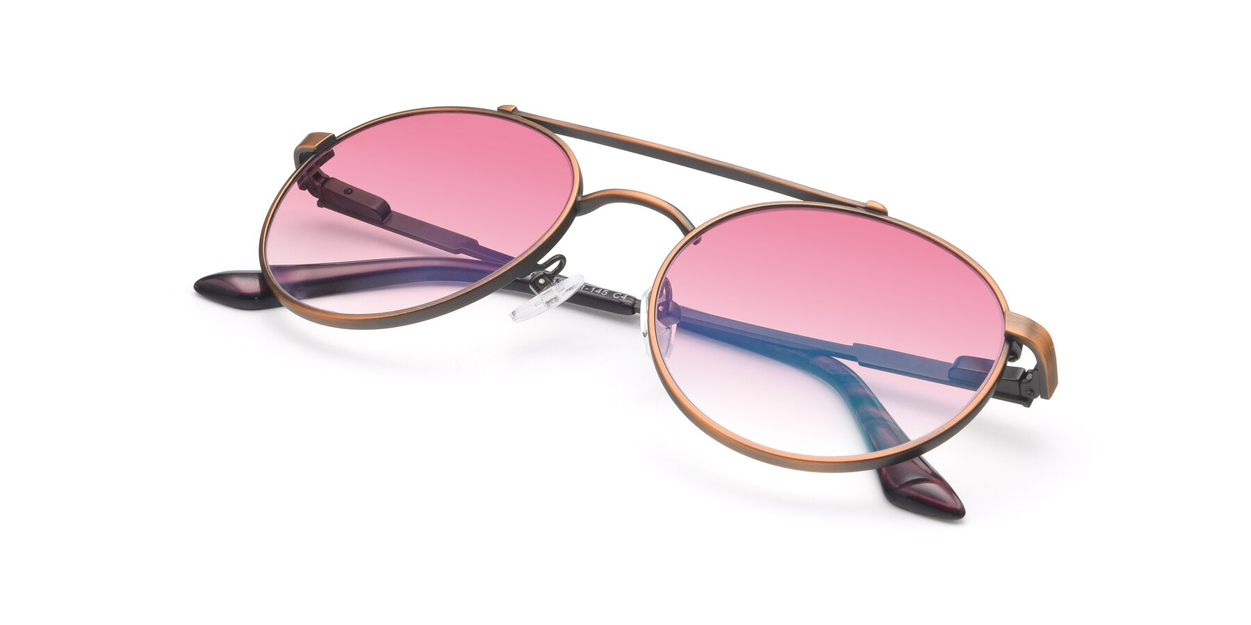 View of 9490 in Antique Bronze with Pink Gradient Lenses