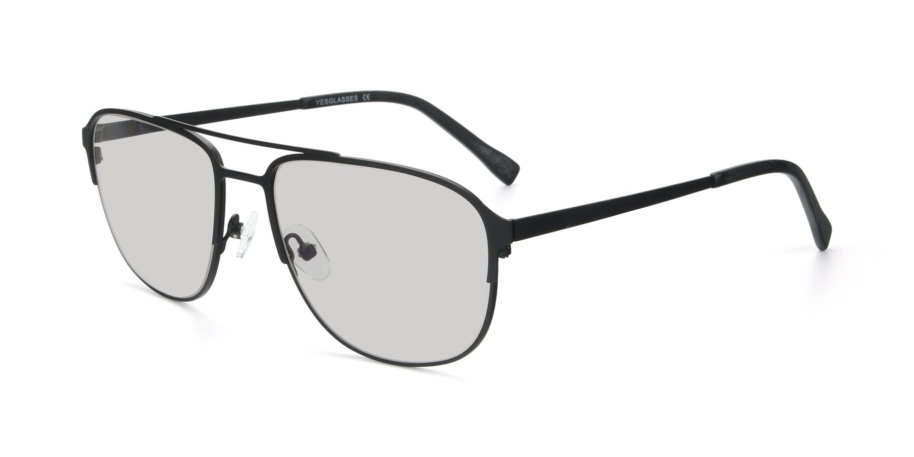 Angle of 9513 in Antique Black with Light Gray Tinted Lenses