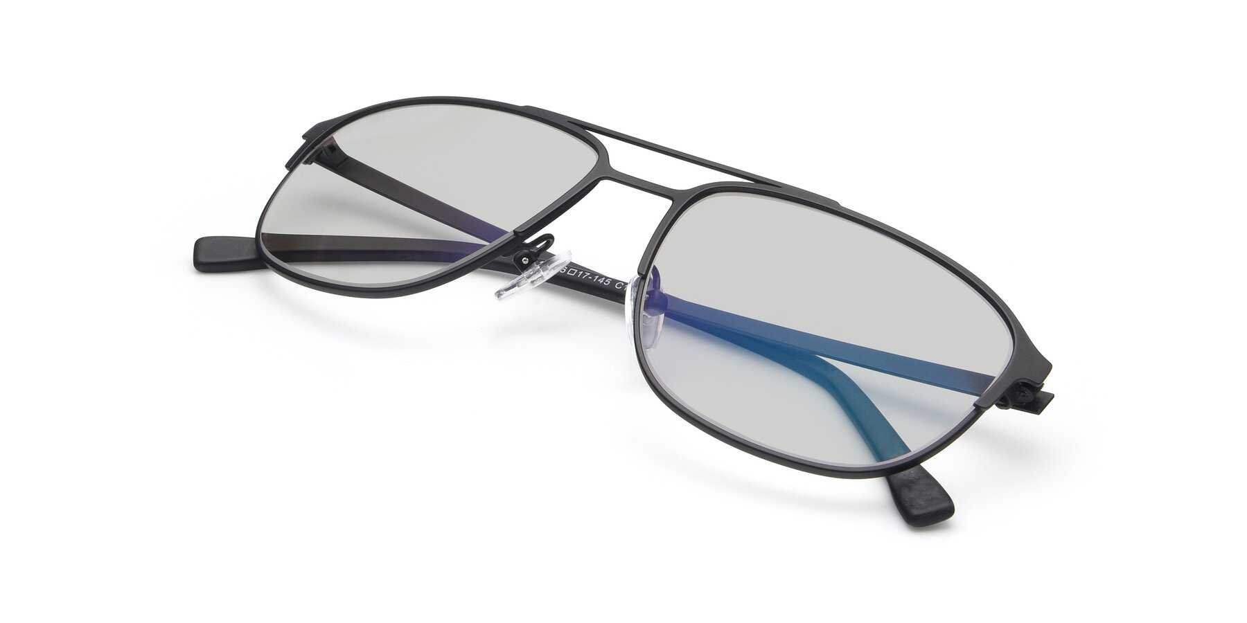 View of 9513 in Antique Black with Light Gray Tinted Lenses