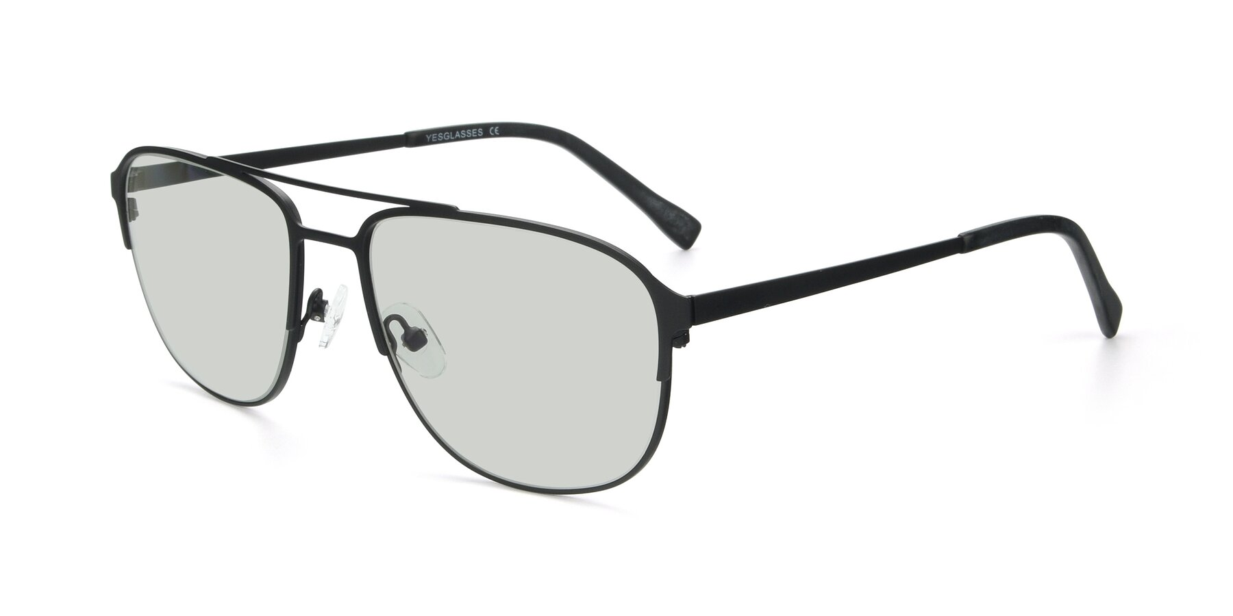Angle of 9513 in Antique Black with Light Green Tinted Lenses