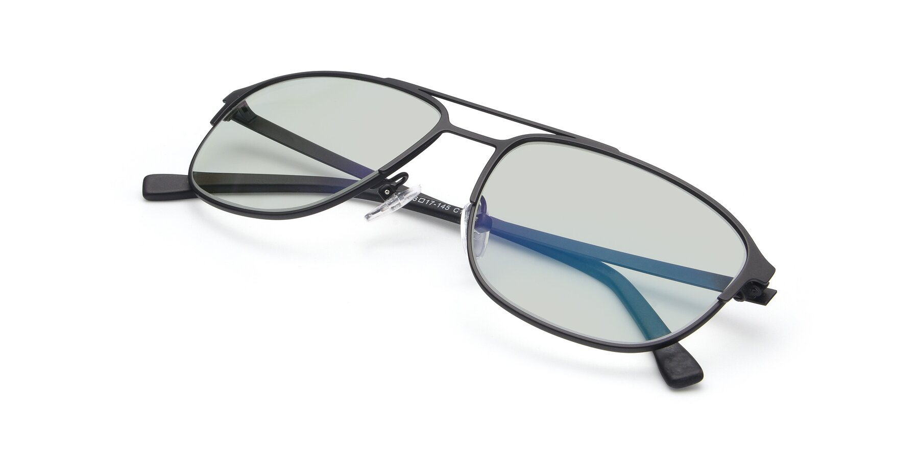 View of 9513 in Antique Black with Light Green Tinted Lenses