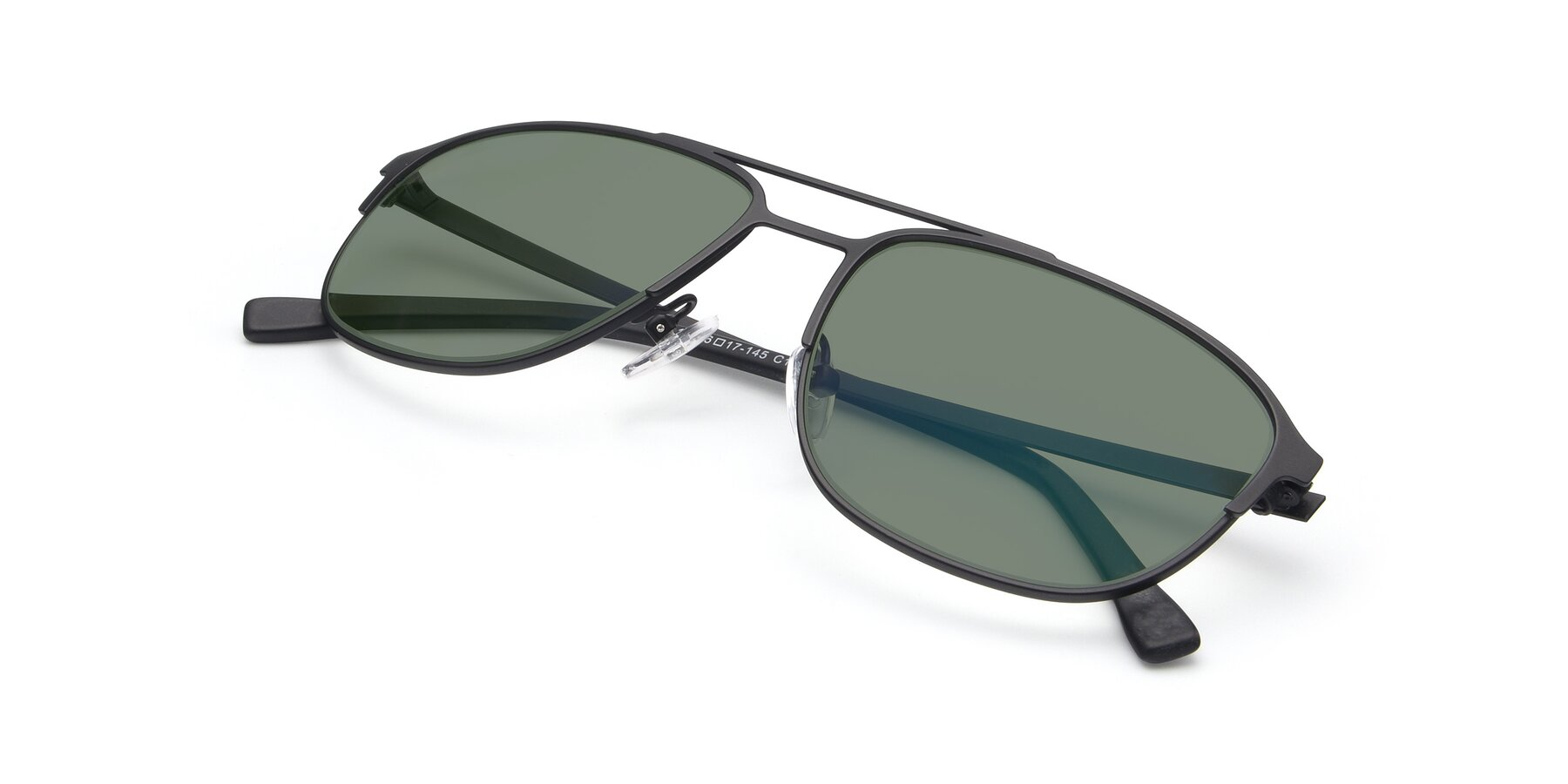 View of 9513 in Antique Black with Medium Green Tinted Lenses