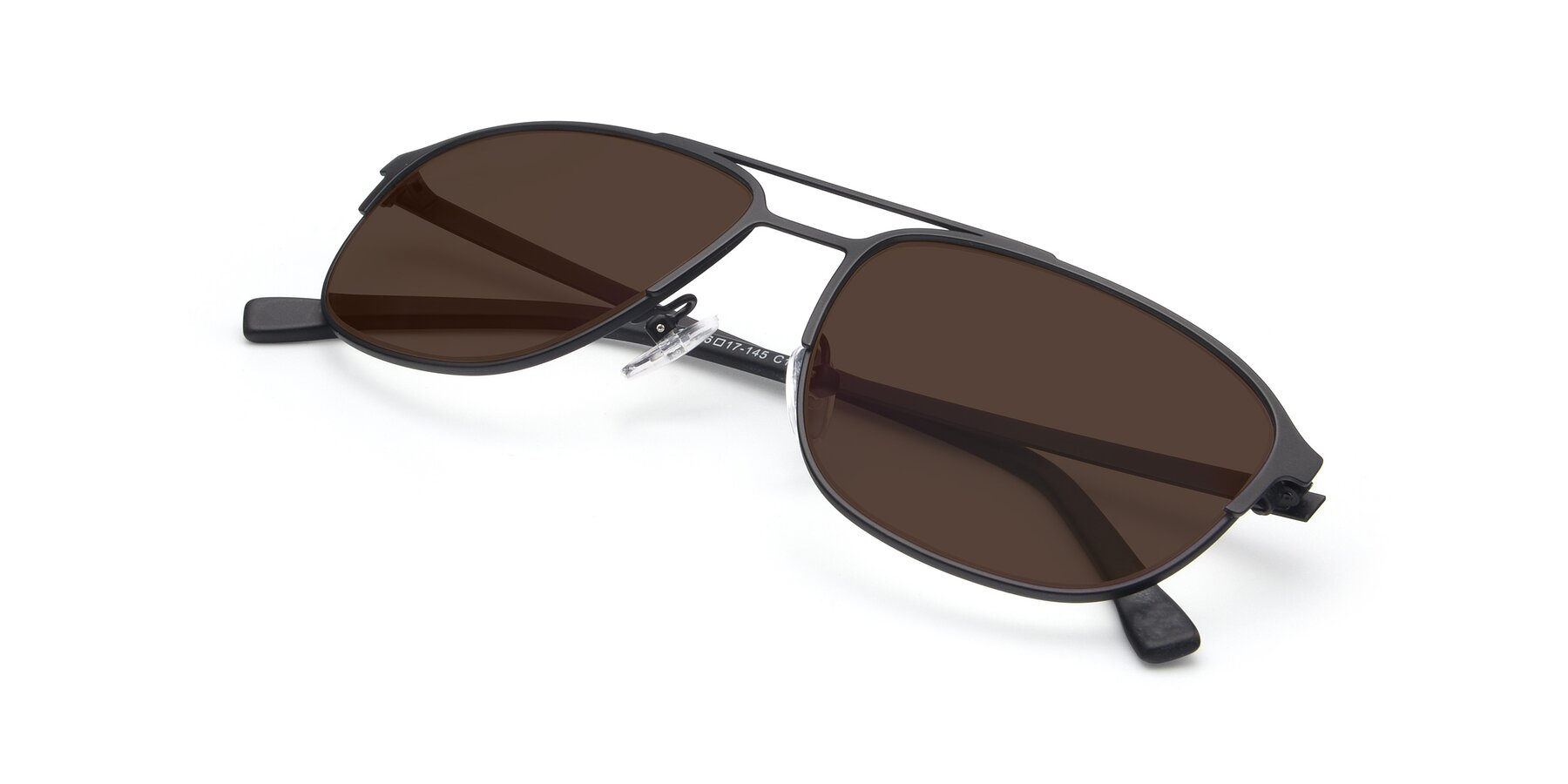 View of 9513 in Antique Black with Brown Tinted Lenses