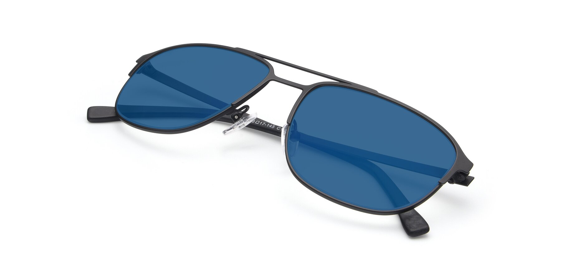 View of 9513 in Antique Black with Blue Tinted Lenses