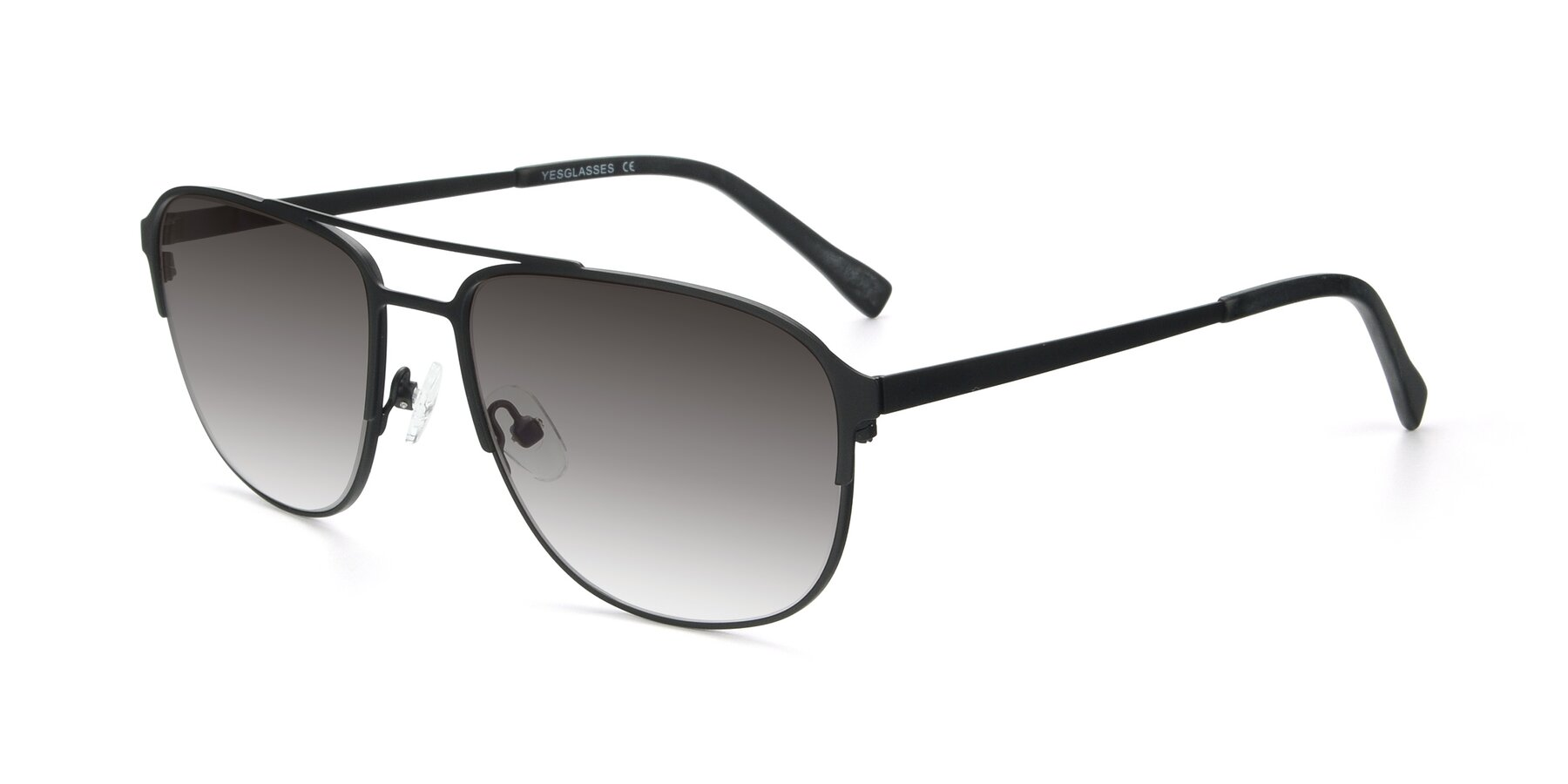 Angle of 9513 in Antique Black with Gray Gradient Lenses