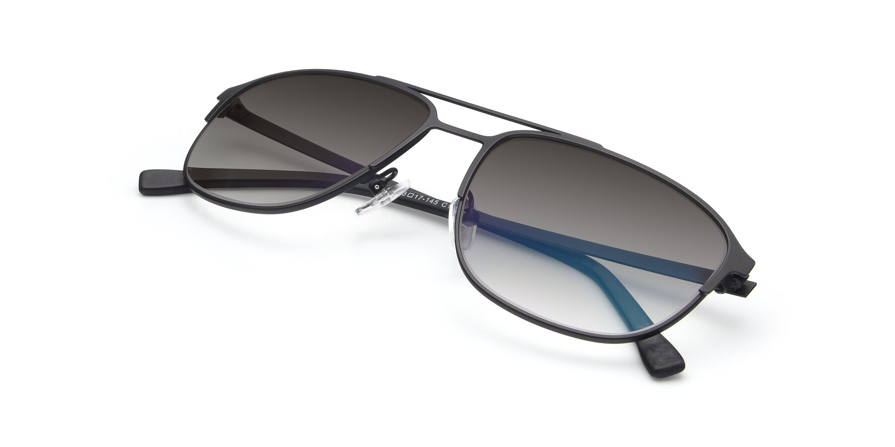 View of 9513 in Antique Black with Gray Gradient Lenses