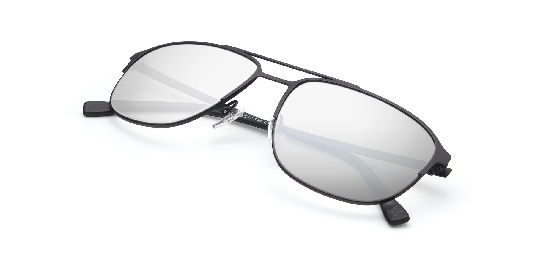 View of 9513 in Antique Black with Silver Mirrored Lenses