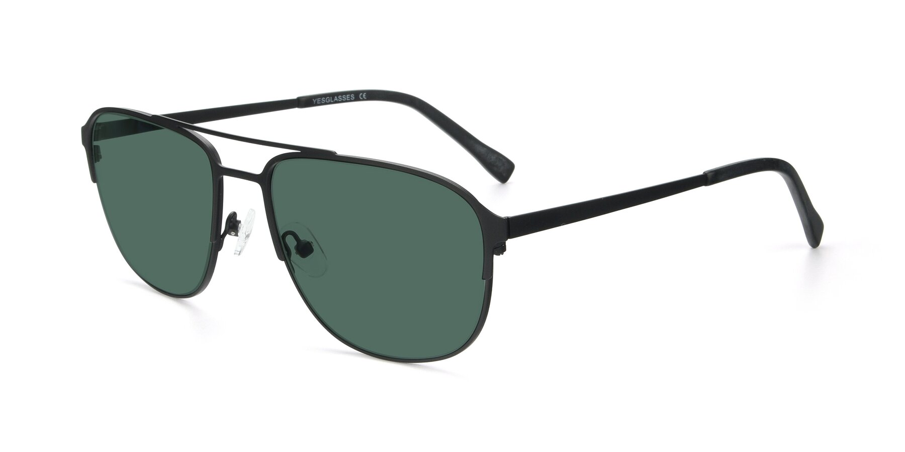 Angle of 9513 in Antique Black with Green Polarized Lenses