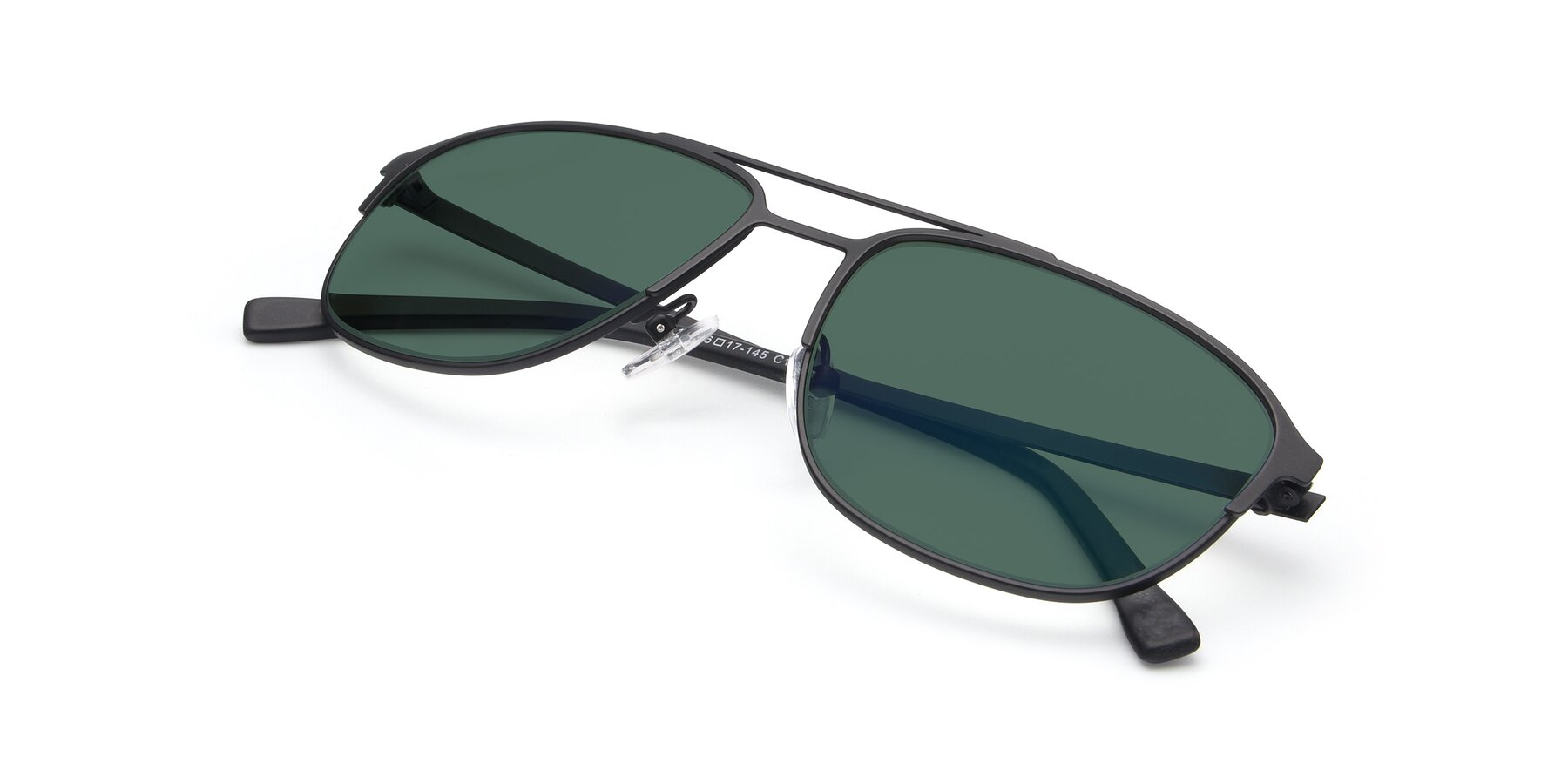 View of 9513 in Antique Black with Green Polarized Lenses