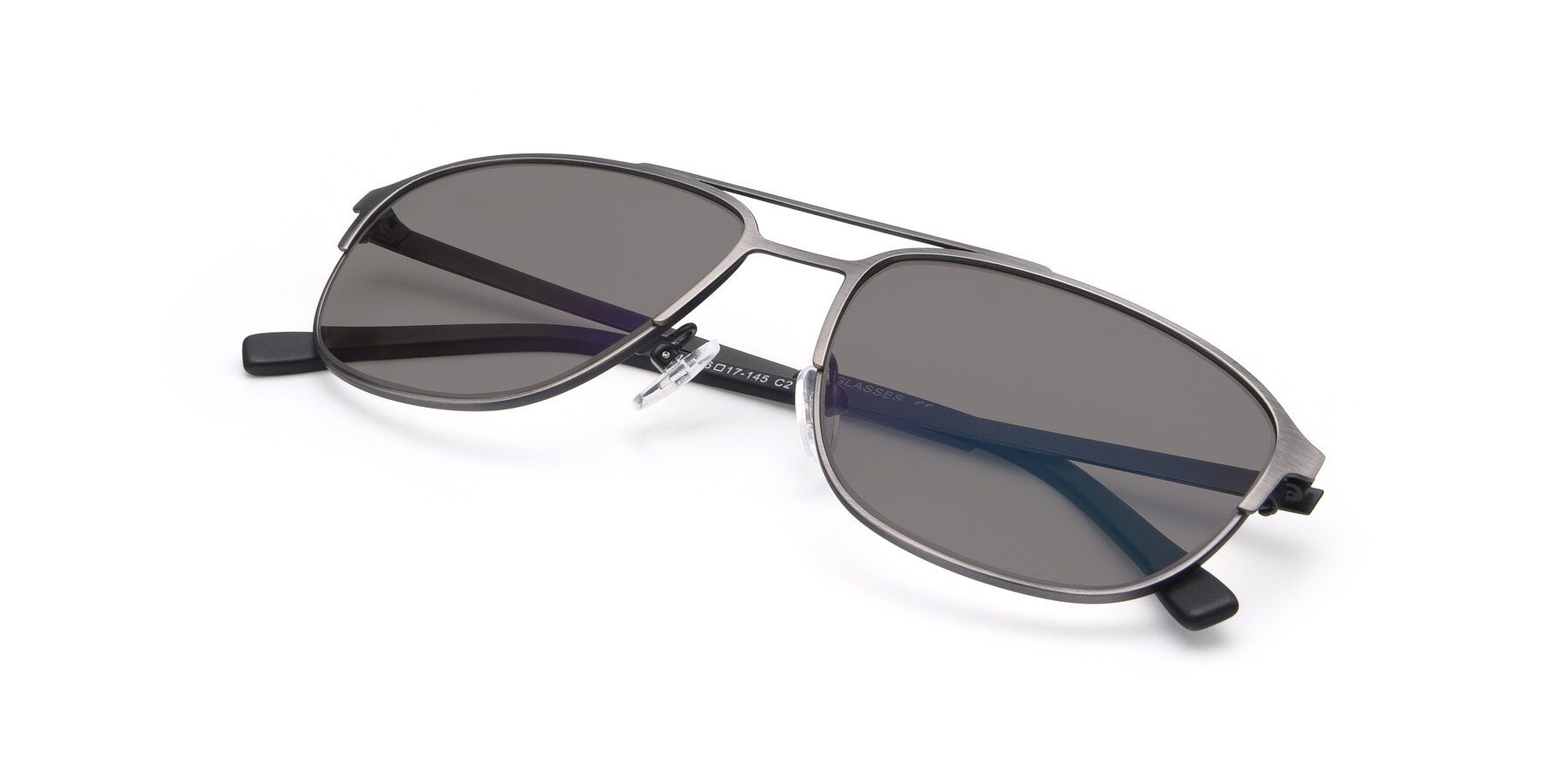 View of 9513 in Antique Silver with Medium Gray Tinted Lenses