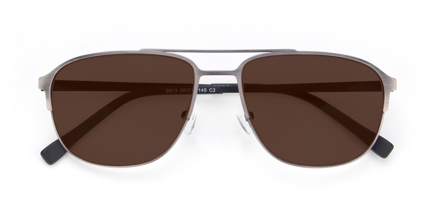 9513 - Antique Silver Tinted Sunglasses