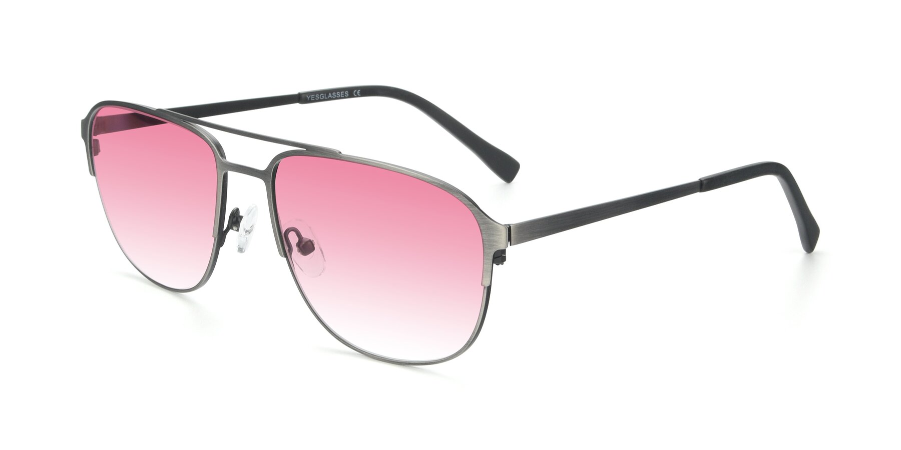 Angle of 9513 in Antique Silver with Pink Gradient Lenses