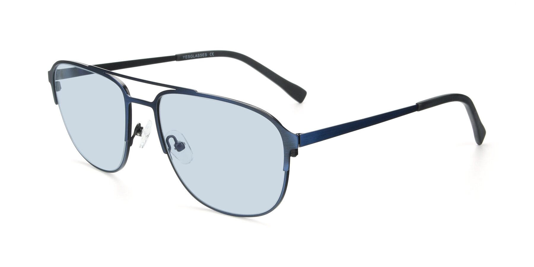 Angle of 9513 in Antique Blue with Light Blue Tinted Lenses